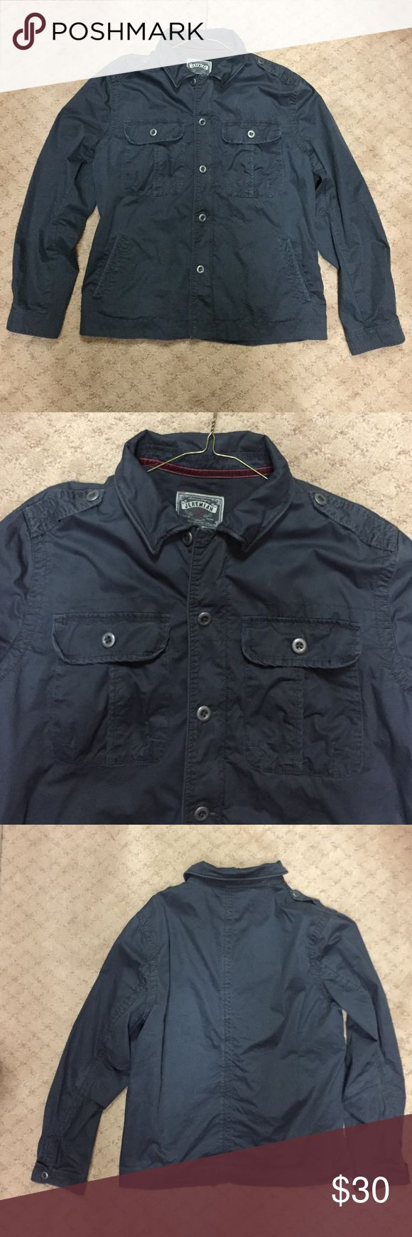 Mens faded black cargo-style lightweight jacket Jeremiah Mens faded black cargo-style lightweight jacket in size XL--like new condition! jeremiah Jackets & Coats Lightweight & Shirt Jackets