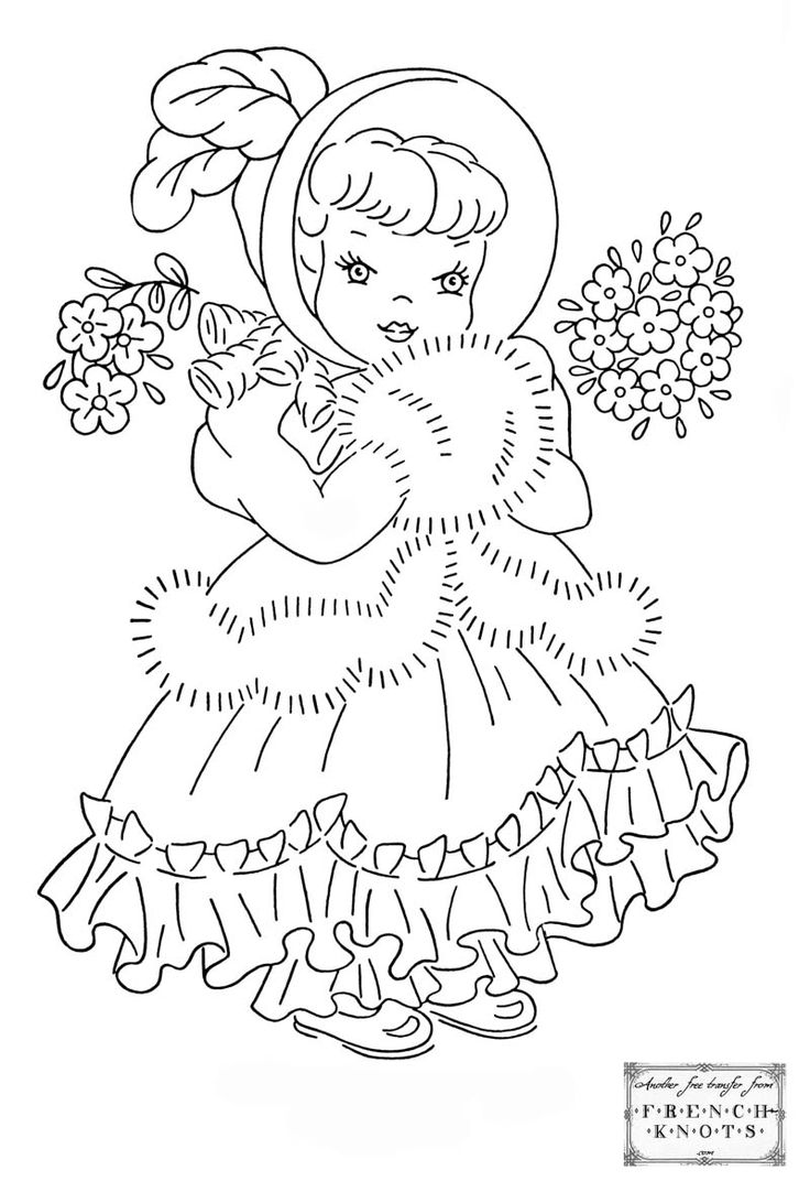 Best 25 hand embroidery patterns free ideas on pinterest free cute princess girl embroidery transfer pattern bankloansurffo Image collections