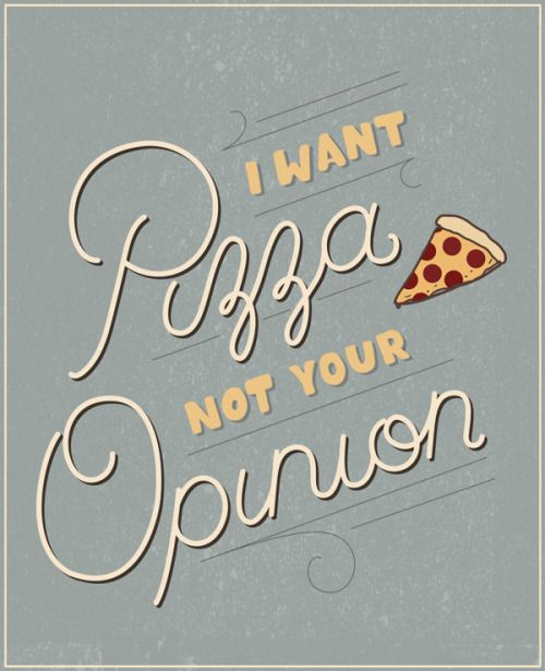 Pizza pizza // #words