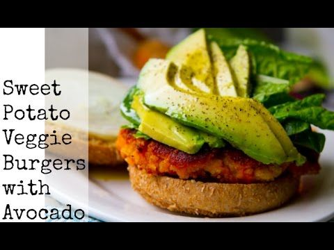 Easy Sweet Potato Veggie Burgers! With Avocado. 1 medium sweet potato, baked and peeled 16oz. cooked white beans  1/2 cup white onion, chopped 2-3 Tbsp tahini 3/4 tsp apple cider vinegar 1 tsp garlic powder 1/2 - 1 tsp chipotle powder  1/2 tsp salt 1/4 tsp black pepper  1/3 cup nutritional yeast OR any flour (try oat flour) 1/2 - 1 cup finely chopped greens (kale, spinach, parsley) toppings: avocado, tomato, vegenaise, burger buns, greens skillet: 1 Tbsp virgin coconut oil