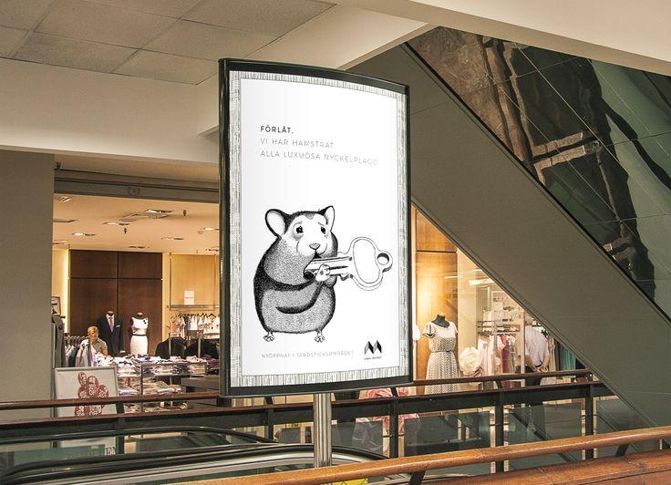 // Billboard school project. // Graphic Designer and illustrator: Emmelie Strand. // Assignment: Create a brand and billboard for a new opened second hand cloth shop. // Technique: Illustrator, InDesign and a lot of time. // Svenska: Stortavla skolprojekt. // Grafisk designer och illustratör: Emmelie Strand. // Projekt: Skapa ett varumärke och stortavla för en nyöppnad secondhand-butik.