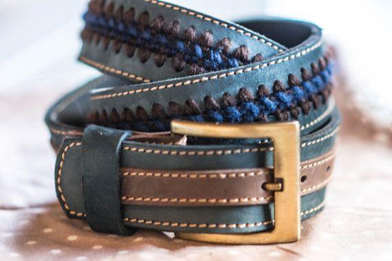 cintura in pelle  handmade   Alepiller design 003 di AlePiller