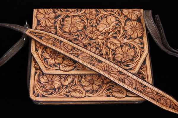 Hand tooled purse from the Custom Cowboy Shop