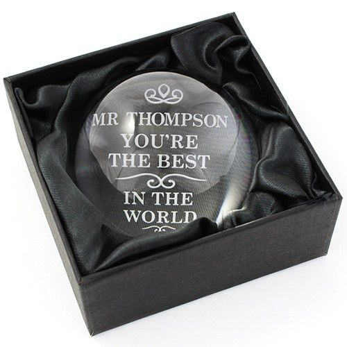 Personalised The Best In World Dome Paperweight From Gifts Only
