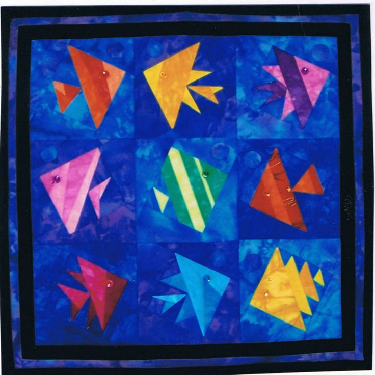 fish quilt block pattern - Google Search