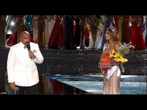Steve Harvey Announces WRONG Winner of Miss Universe 2015 Awards FAIL (j...