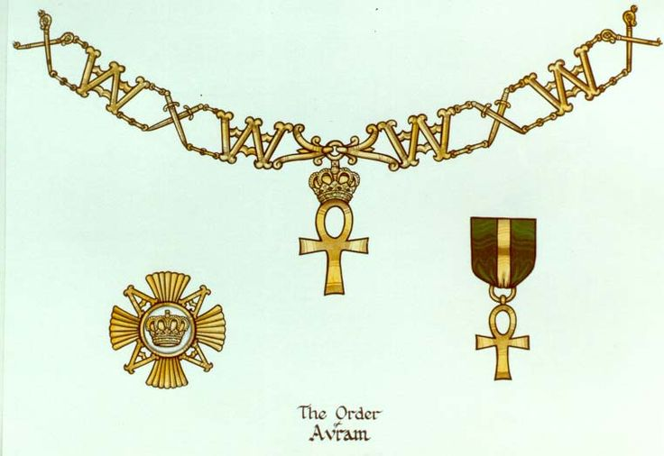 The Grand Duchy of Avram: Order of Avram.  The hereditary head of the Order is the Grand Duke of Avram.  The order is sometimes known as the Order of the Ankh. This is a Qabalistic Order open to worthy Knights, baronets and peers.
