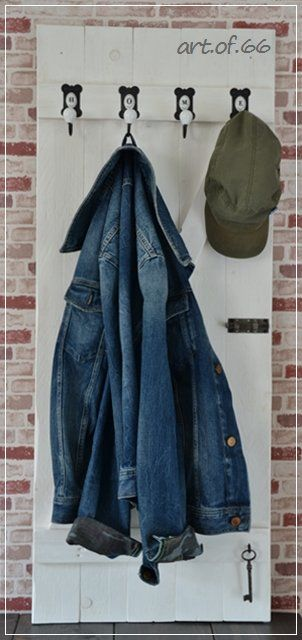 garderobe tür2 Pallet wall wardrobe in pallet entrance  with Recycled pallet diy Decoration