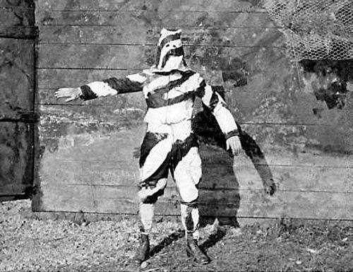 WW1 experimental camouflage sniper's suit