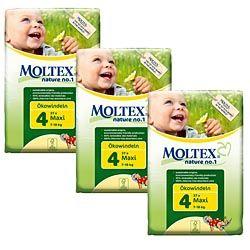 Moltex Nature No1 Maxi Box ~ (111 nappies) ~ 3 packs ~ SAVE £3.76