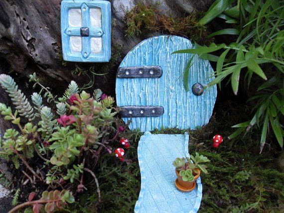 Gnome Garden: Hobbit Door, Window & Pathway Set