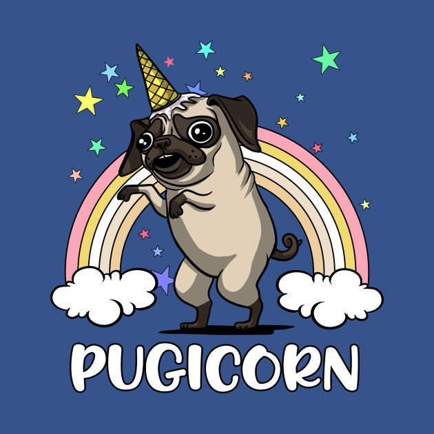 Check Out This Awesome Pugicorn Funny Unicorn Pug Fantasy Rainbow