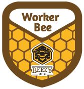 Worker Bee by @BeezyKaffee: Hello! You're now officially a part of the magnificent Bee kingdom. Lets build the colony together! Bring your jelly baskets & collect every honey drop & help the flowers blossom. The world of Beezy Kaffe beehive needs you!