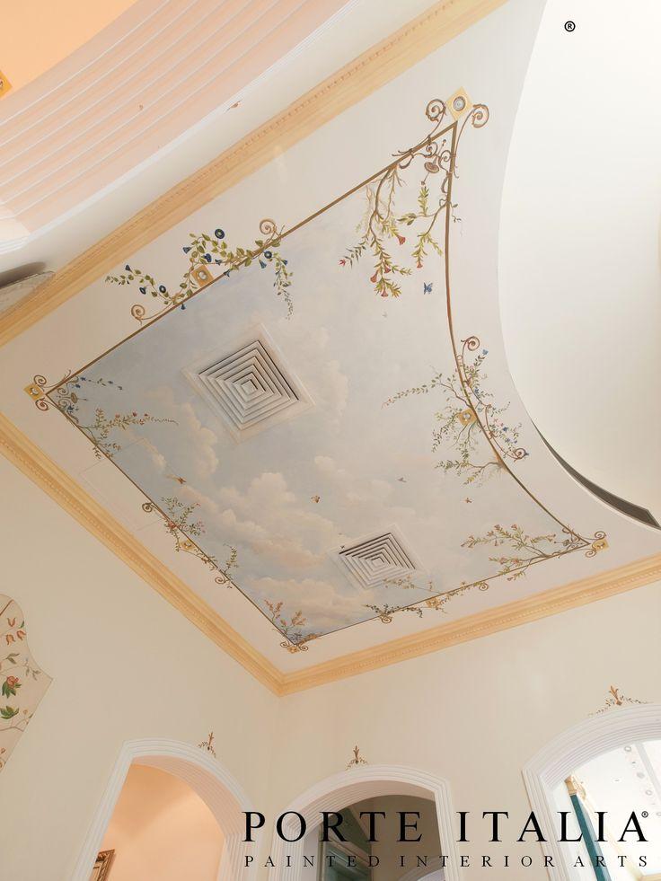 Unique hand-painted ceilings by PORTE ITALIA INTERIORS