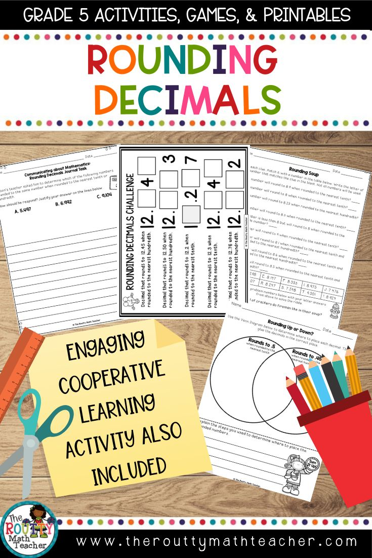 Rounding Decimals Math Center Activities and Math