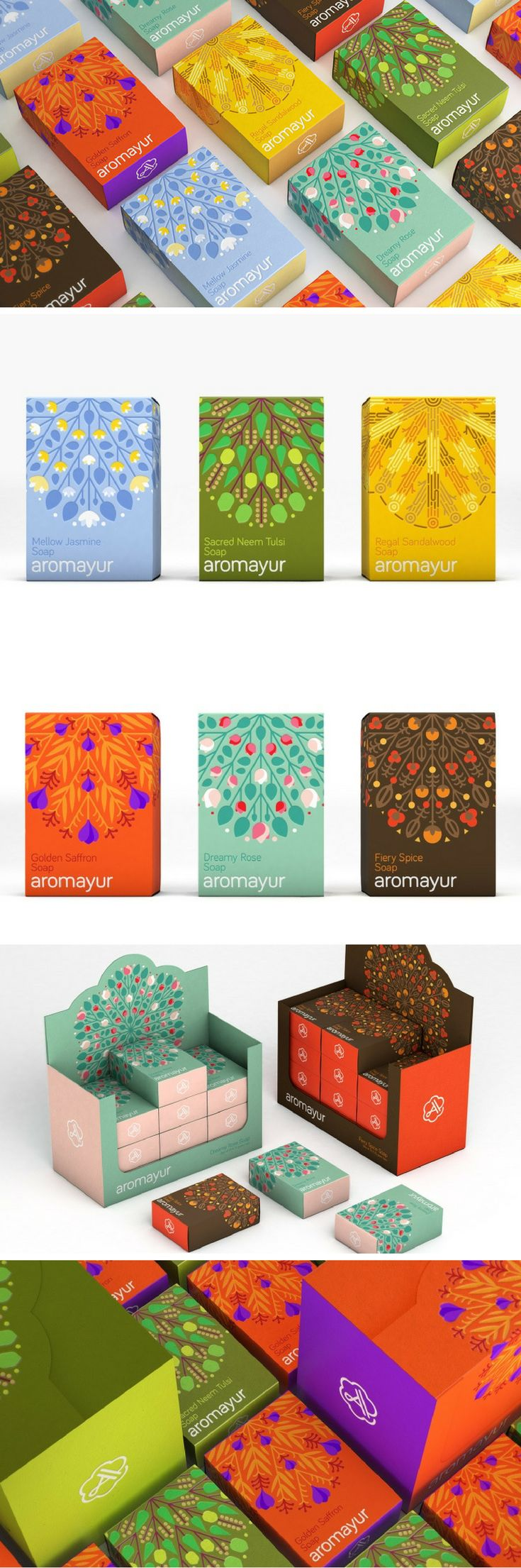 Aromayur identity & packaging by Zooscope