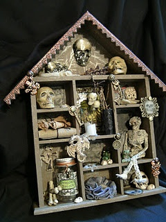 i have seen these empty wall decor boxes at thrift stores but had no idea why anyone would buy oneperfect and inexpensive halloween decoration - Miniature Halloween Decorations