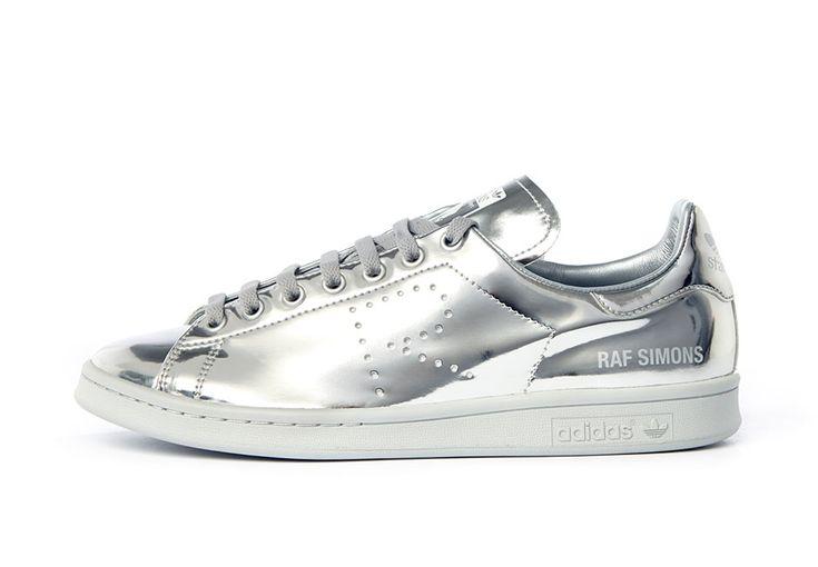 raf simons x adidas originals stan smith silver. Black Bedroom Furniture Sets. Home Design Ideas