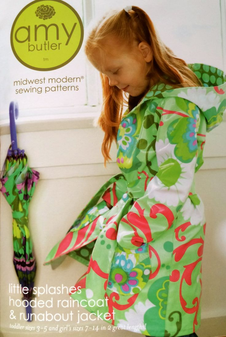 AMY BUTLER- Childrens Raincoat Pattern sold by BrokenStitch on Etsy