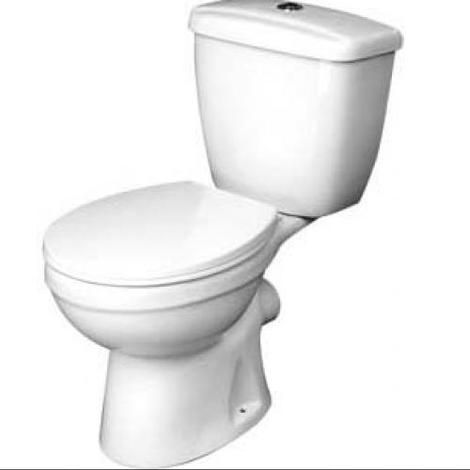 Demi close coupled WC inc seat and dual flush WRAS approved cistern fittings