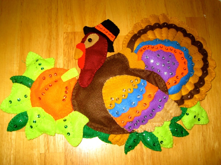 Felt Applique Turkey