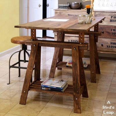 11 best adjustable table legs images on pinterest - Mesas rusticas ...