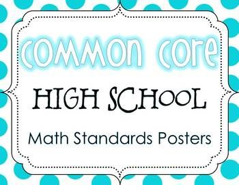 Common Core High School Math Standards Posters {Polka Dot Edition} - The Enlightened Elephant - TeachersPayTeachers.com. $10.00