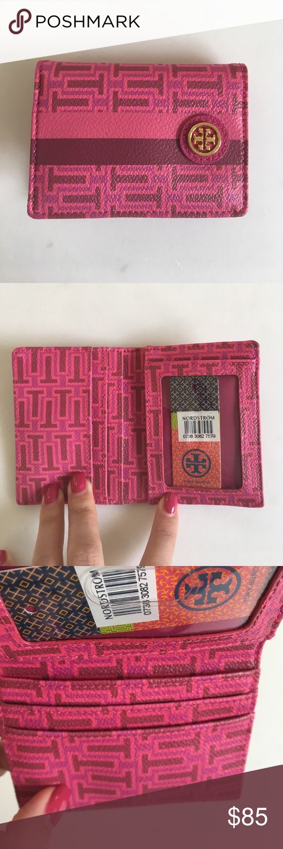 Tory burch wallet Never used! Card holder. Holds 4 cards. Onepocket used for cash if folded! From Nordstrom! Tory Burch Accessories Key & Card Holders