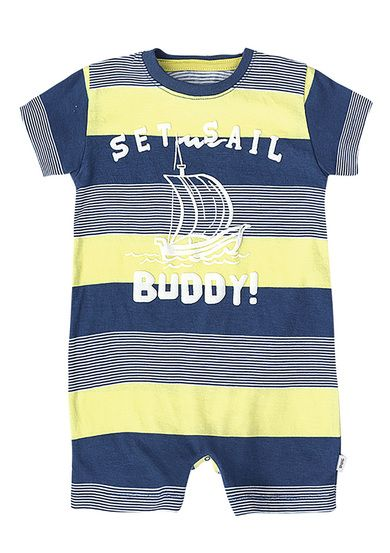4f191fa2347 Macacão Infantil Bebê Menino Estampado Puc