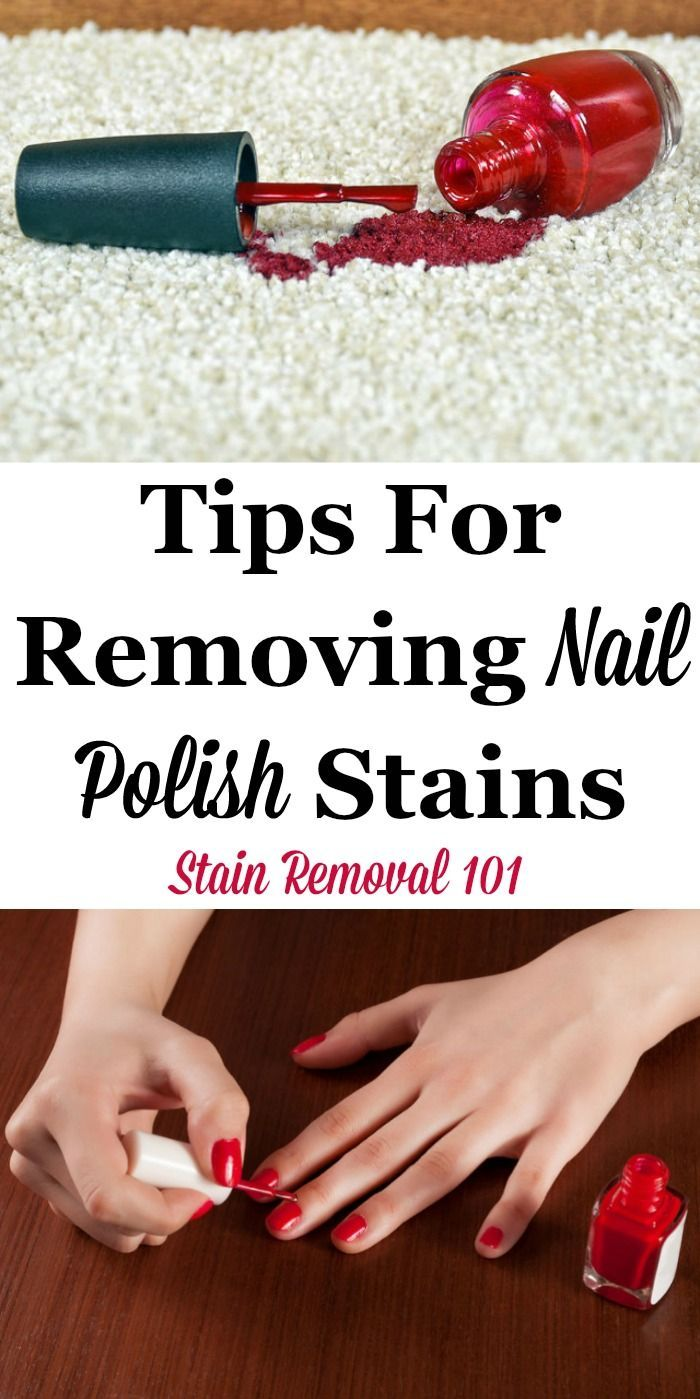 How to remove nail polish from clothes at home