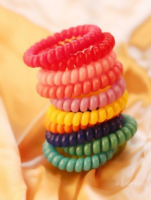 These plastic hair ties that doubled as ~chic~ bracelets.