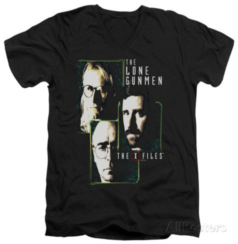 The X Files - Lone Gunmen V-neck T-Shirt at AllPosters.com