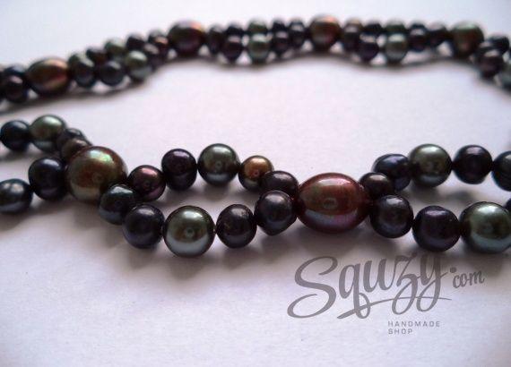 Black pearls' neckplace