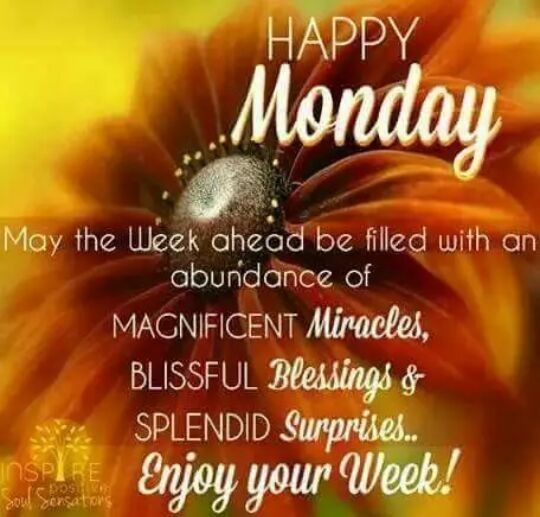 Good Morning....Monday blessings