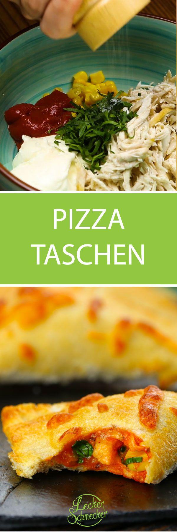 Innen Heiss Und Aussen Knusprig Pizza Taschen Mit Chicken Fullung Rezepte Pizza Taschen Lecker Schmecker