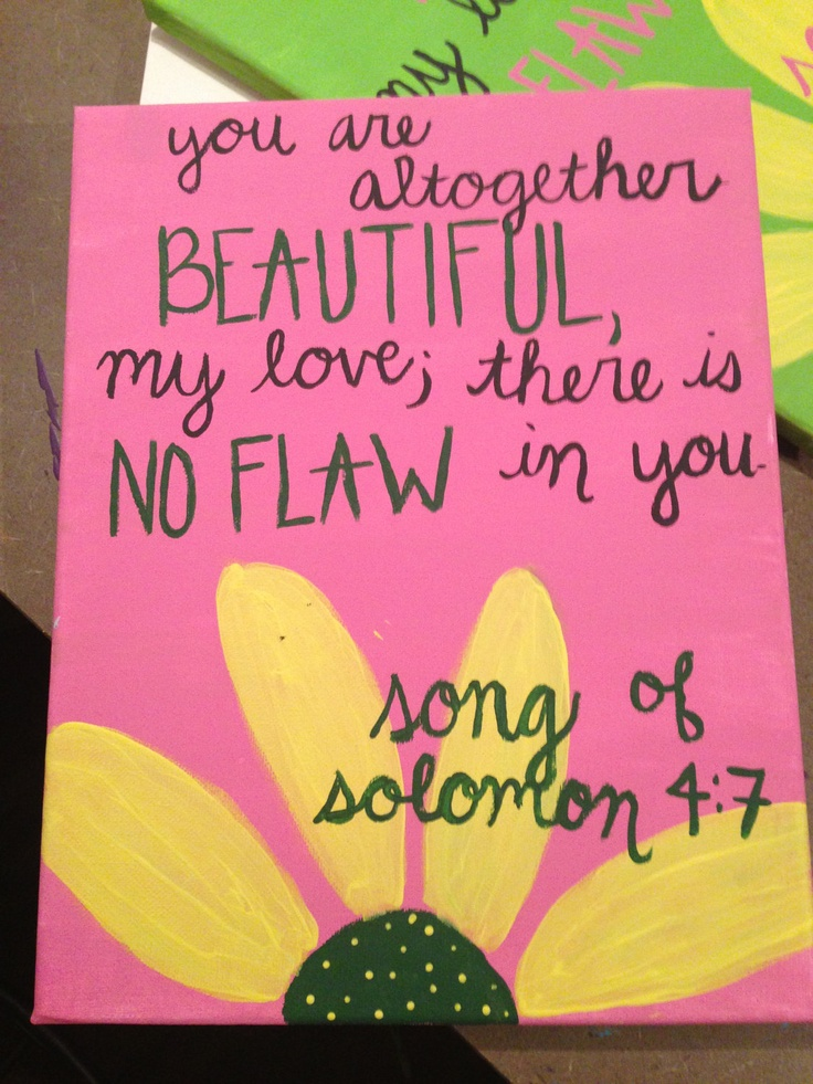 Song of Solomon Bible Verse canvas. $20.00, via Etsy. NEED this for our future daughter! http://www.rebeccaatthewell.org/store/products/the-mikvah-gathering-of-the-nations-cd/