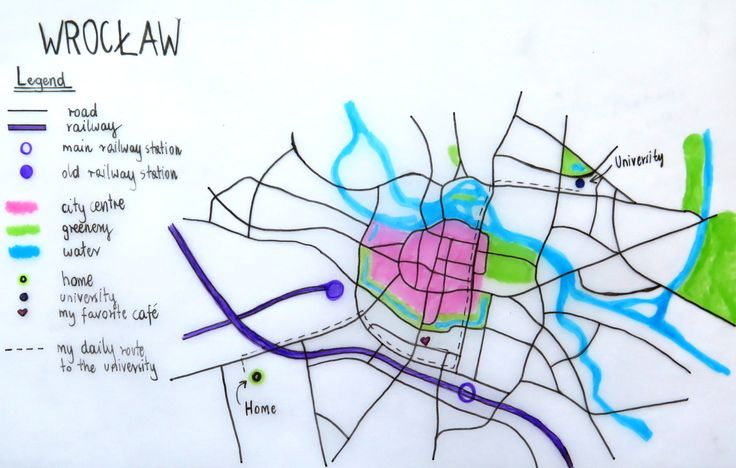 WEEK 1: I'm Agnieszka from Poland and I'm a spatial planning student. My map shows traced map of the Wrocław city centre, one the most beautiful city in Poland in my opinion.