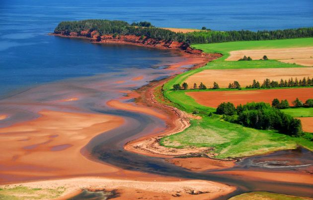 Prince Edward Island. There are so many shades of green, one can see the Irish heritage, but people forget the amazing shades of blues and browns.