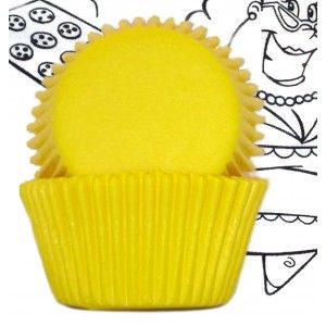 Goldas Kitchen Baking Cups - Solid - Yellow - Standard Golda's Kitchen