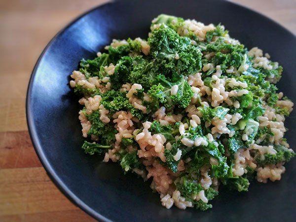 risotto de chou kale