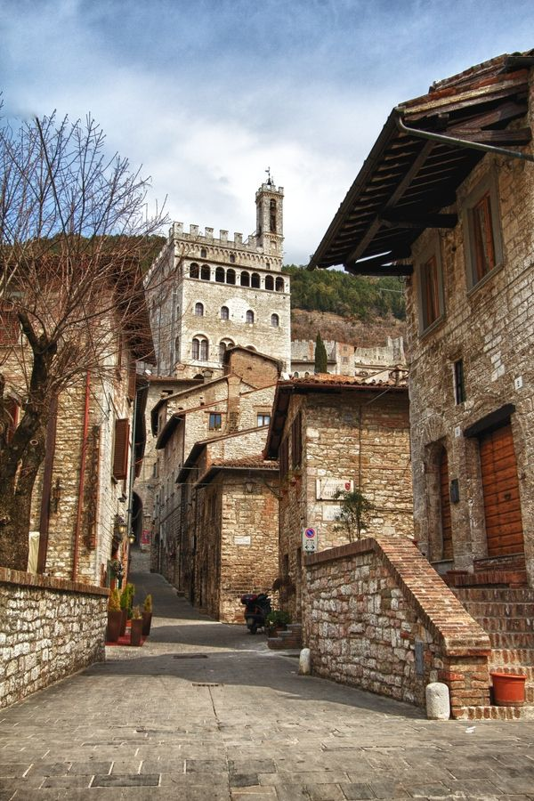Town of Gubbio, Perugia (Umbria), Italy. Nice quiet town with famous ancient tablets that we mistook for tables, no wonder we could not find the famous tables.