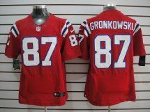 New England Patriots #87 Rob Gronkowski Elite Red Jersey