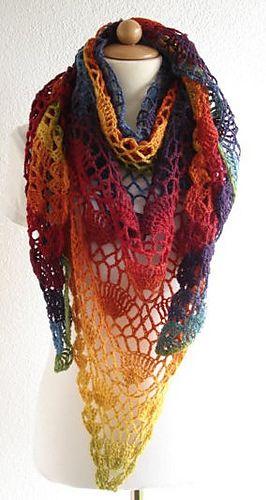 Festival Shawl By Lyn Robinson - Free Crochet Pattern - (ravelry) •✿• Teresa Restegui http://www.pinterest.com/teretegui/ •✿•✿