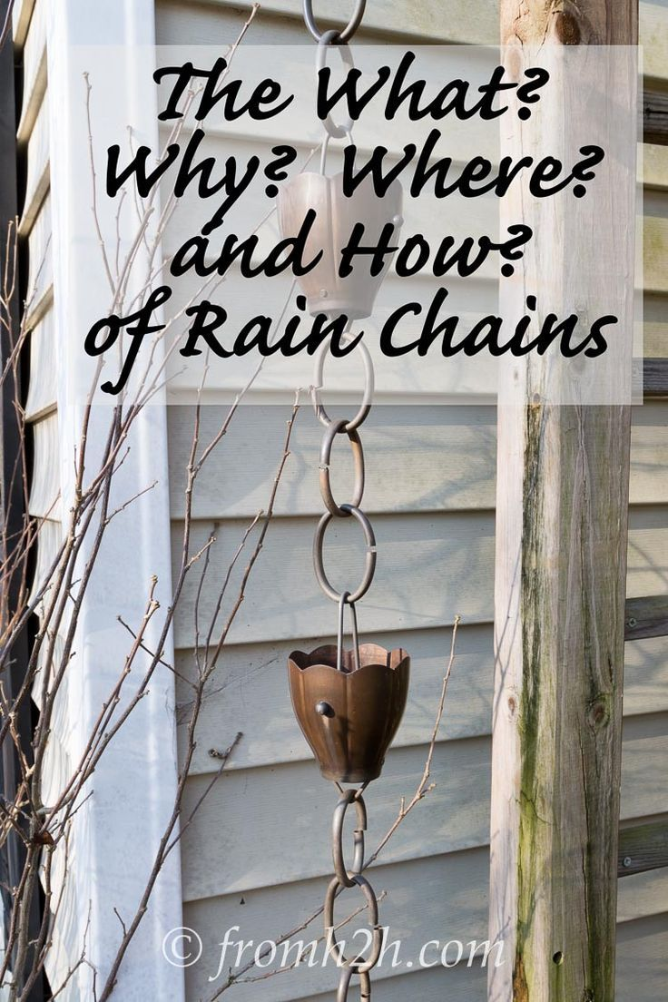 The What, Why, Where and How of Rain Chains | Want to know what rain chains are? Or how they are installed? Or why you would want one?  Or where the water goes?  Click here to find out.