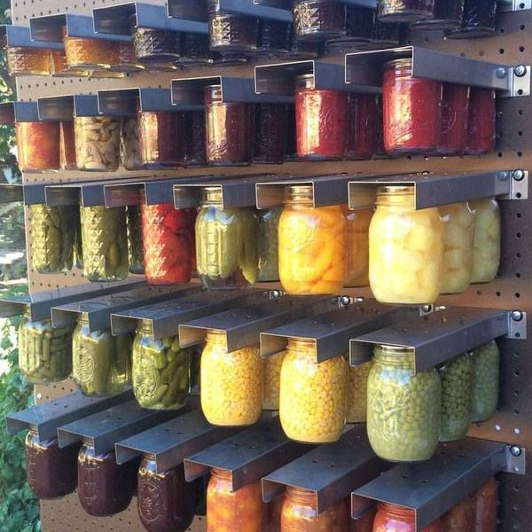 Mason Jars Kleiderbügel: Mom's Mason Jar Rack