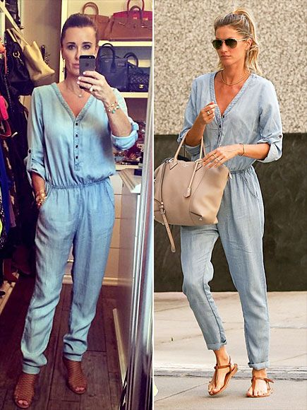 Fashion Faceoff   KYLE VS. GISELE   We want this Sam & Lavi jumpsuit as badly as you do. Unfortunately, it's sold out basically everywhere. So unless the reality star or supermodel want to have a clothing swap (hey, it could happen!), we're all out of luck.