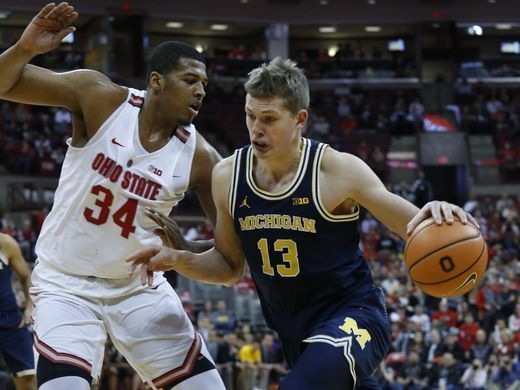 Michigan basketball blows big lead in 71-62 loss to rival Ohio State