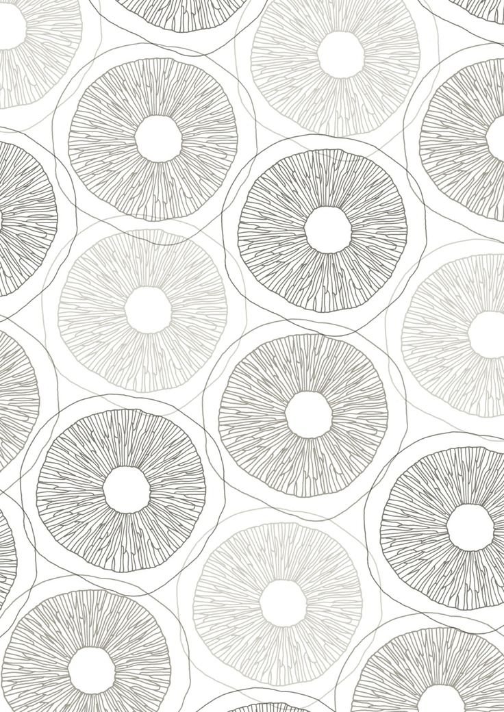 Mushroom pattern from line drawing, by Sarah Renwick http://sarahrenwick.tumblr.com/post/11239694417