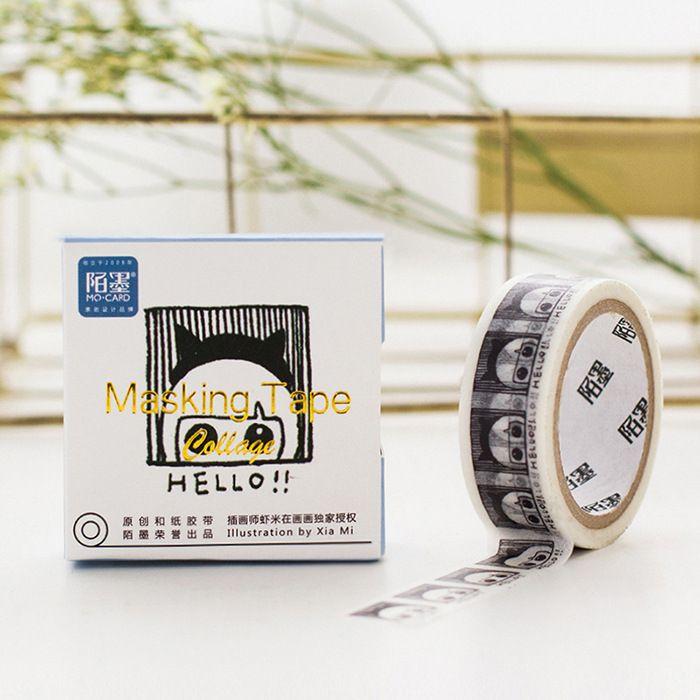 1.5cm Wide Cute Hello Girl Decorative Washi Tape DIY Scrapbooking Masking Tape School Office Supply Escolar Papelaria