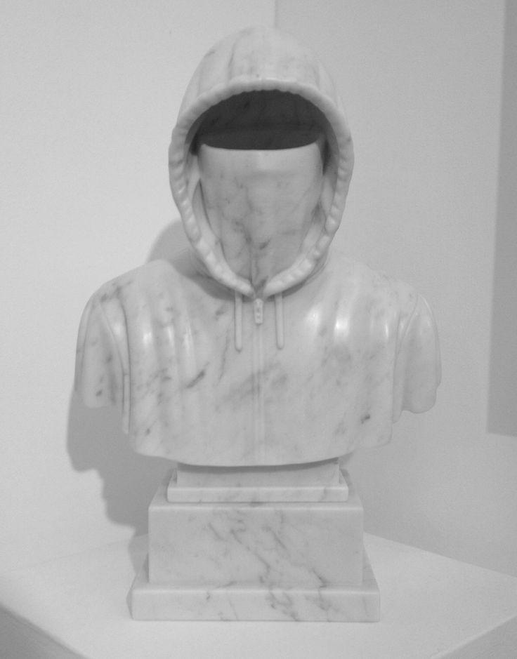 hand carved carrara marble / Chris Mitton - Hoodie